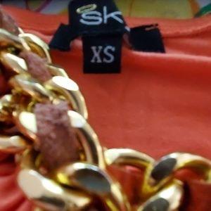 Sky Dresses - Sky Orange Halter Top Dress - XS